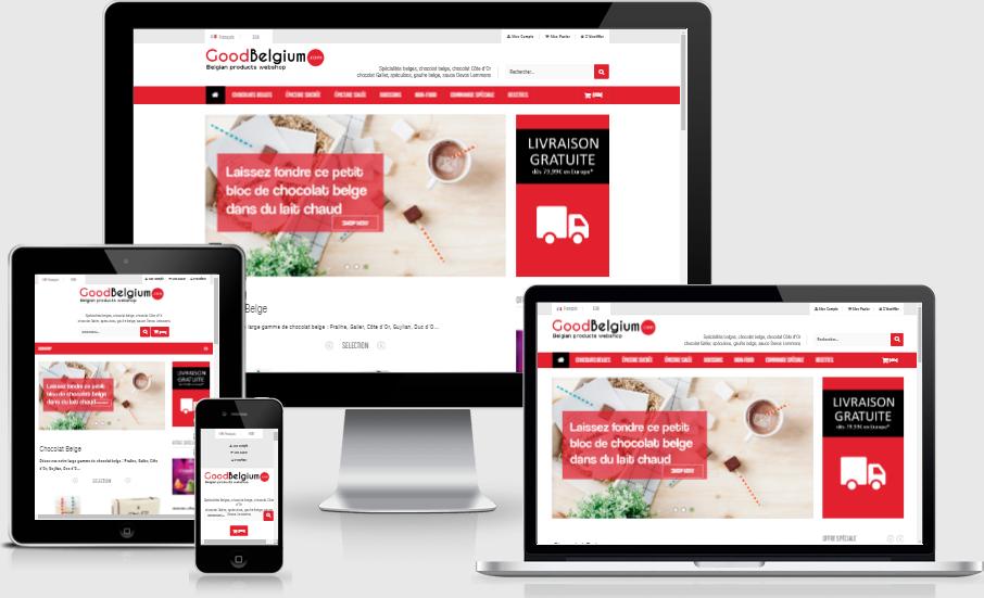 Création site e-commerce Good Belgium
