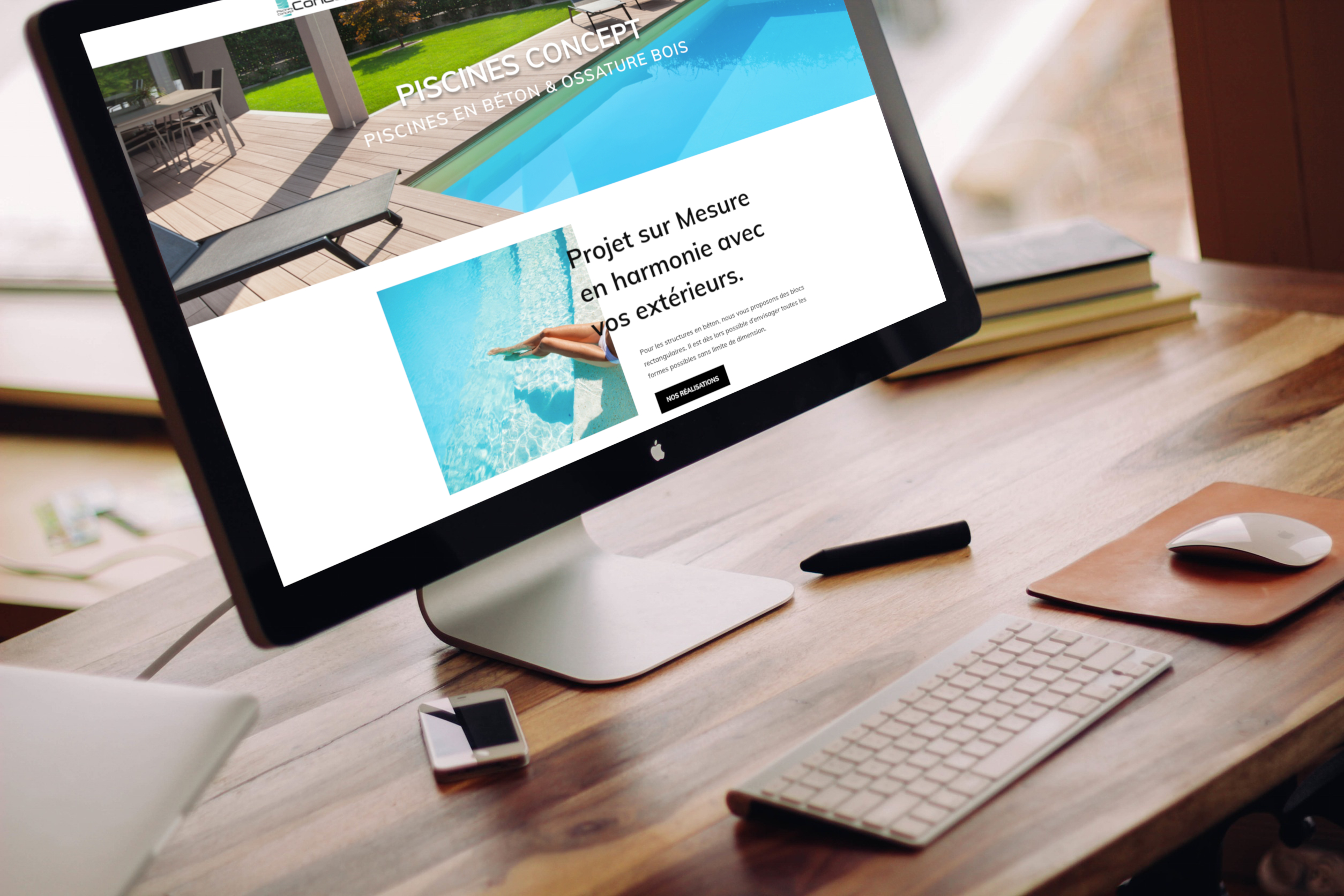 Création site vitrine Piscines Concept