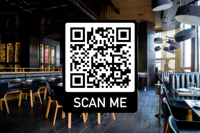 Carte-Menu restaurant smartphone code qr